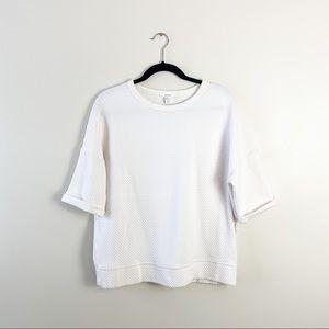 Women's Forever 21 Small White Oversized Blouse